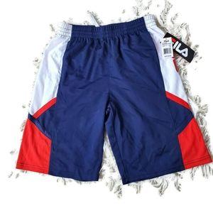 🕶 NWT FILA Boys Basketball Shorts Youth Size 18XL